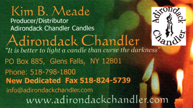 Adirondack Chandler Business Card